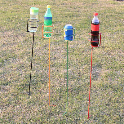 Outdoor Picnic Game Ground Wine Cup Holder Lawn Drink Bottle Stand Disassemble