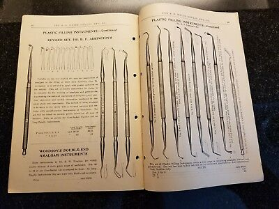 Late 1800s/Early 1900s Antique Catalog S.S. White Dental Mfg Co. 59 Pages