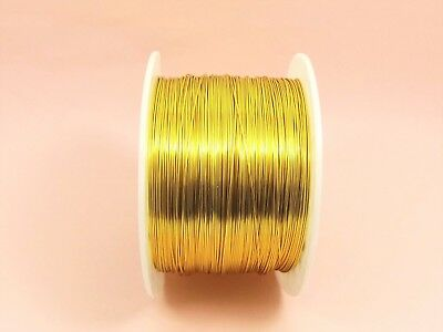 5M x Lt GOLD Tarnish Resistant COPPER Brass Artistic Craft Beading WIRE 0.3-1mm