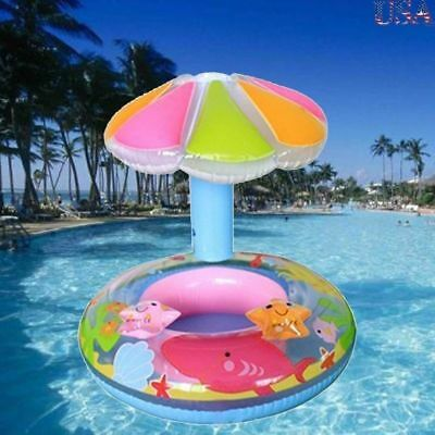 Baby Inflatable Swimming Float Ring Kids Swim Trainer Safety Aid Pool Water Toy