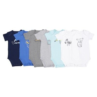 LA REDOUTE BABY BOYS PACK OF 5 BODYSUITS AGE 12 MONTHS NEW (ref 527)