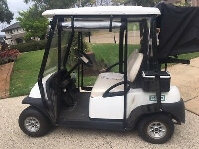 Club Car Electric Golf Cart 2 seater 2012 with Full Cover Rain Enclosure
