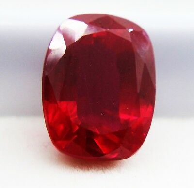 9.10Ct GGL Certified Natural Sizzling Cushion Cut Red Ruby Gem Halloween Offer