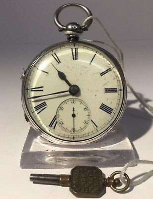 Antique Silver Fuse Pocket Watch - By Adam Burdess Coventry - London 1877.
