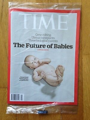 TIME magazine January 14, 2019 The Future of Babies. New In Unopened Wrap