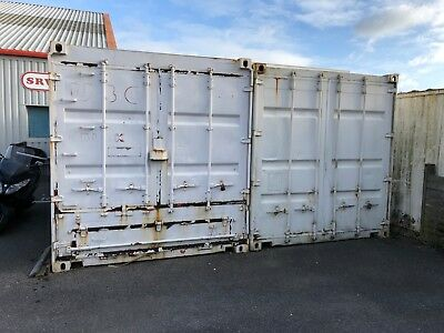 20' Shipping Container - Secure, dry storage - Painted white