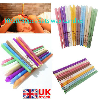 10/20/50pc Ear Cleaner Wax Removal Candles Treatment Care Healthy Candles Set UK