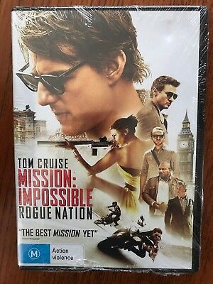 Mission Impossible Rogue Nation DVD New & Sealed Region 4 Tom Cruise