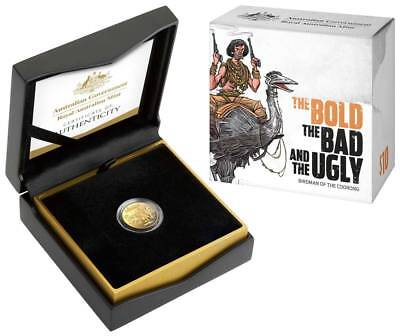 2019 $10 GOLD Proof 'C' Mintmark Coin  Australia's Wild Colonial Bushrangers NEW