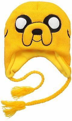 Officially Licensed Adventure Time Jake Laplander Beanie Hat with Braided Ties