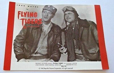 JOHN WAYNE in FLYING TIGERS SOUVENIR POSTCARD for 50th ANNIVERSARY 🌟