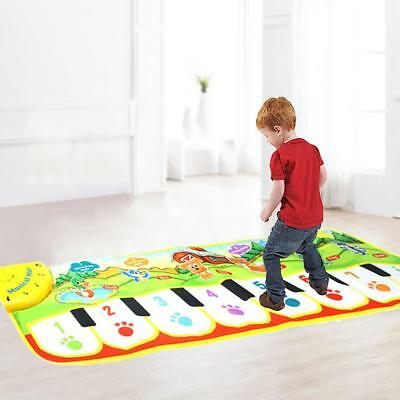 Kids Crawling Floor Pad Blanket Activity Touchable Piano Carpet Game Rug Mat