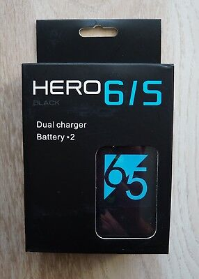 Brand New GoPro HERO 5 6 7 dual batterry usb type c charger UK postage is free
