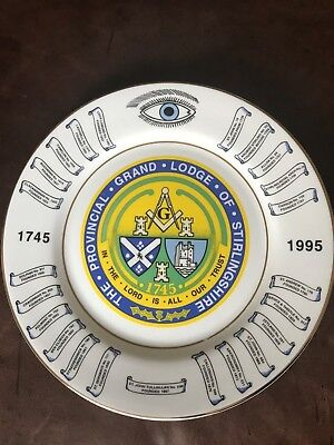 Grand Lodge Of Stirlingshire Plate