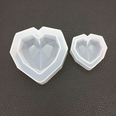 Hot Heart Shape DIY Silicone Mold For Resin Jewelry Making Crafts Mould Tool