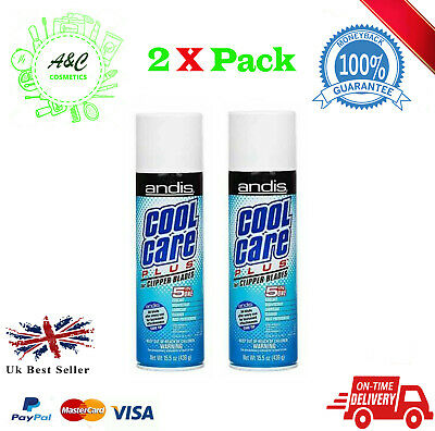 2X Andis Cool Care Plus Spray For Clipper Blades - 5 in 1 Formula