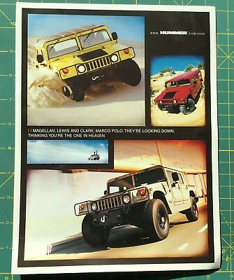 2000 HUMMER BROCHURE, the Big One!