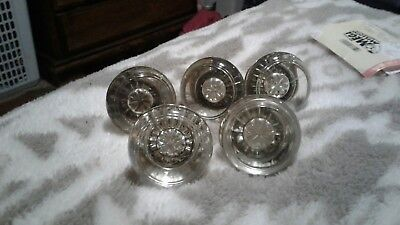 5 Vintage / Antique  Clear Glass Door Knobs reclaim  up cycle