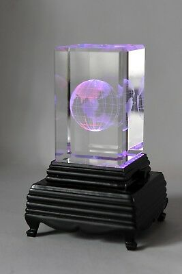 Laser 3D Etched Crystal Block Ornament/Paperweight (5x5x8cm)