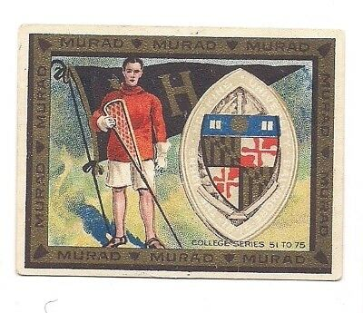 1910 Murad College Sports card 100 yrs old Holy Cross Lacrosse NCAA Alumni NICE!