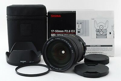SIGMA 17-50mm F2.8 EX DC OS HSM Lens for Canon W/Box [Exc+++] #371489A