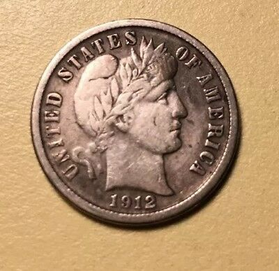 1912-D Barber Dime.  Nice Coin