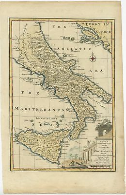 A New & Accurate Map of the Kingdoms of Naples & Sicily - Bowen (1747)