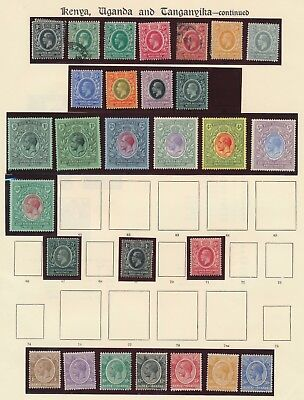 KUT STAMPS 1912-1922 KGV 2 PREMIUM PAGES INC MOG 1r-10r SG #53/58 & #87/93 VF