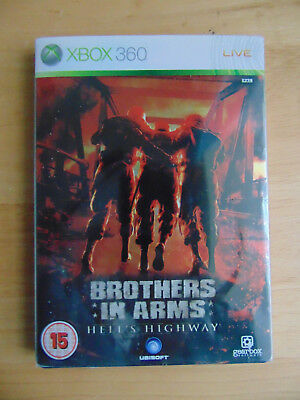 Brothers in Arms Hells Highway Steel Book Microsoft Xbox 360 Case Only.