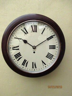 Old G.P.O.  Roundhead Fusee 8 Day Wall Clock.