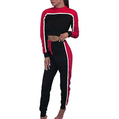 Womens 2 PCS Tracksuits SetS Ladies Striped Active Sport Loungewear Mustard Gym