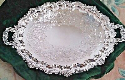 Wilcox International Silver Plate Large Butler tray with handles