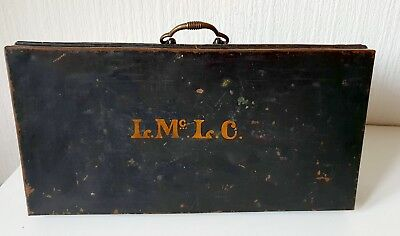 Antique Vintage Early 20Th Century Metal Carry Case