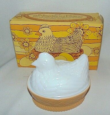 Avon Nesting Hen Dish with Soaps Original Package