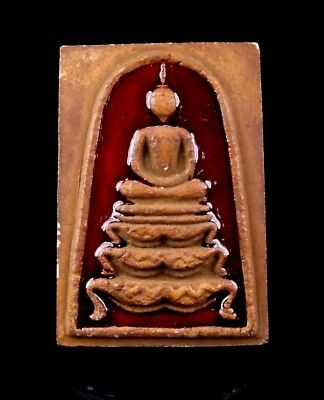 thai buddha amulet PHRA SOMDEJ Magic Powder LP Pae maestro Embed Takrut