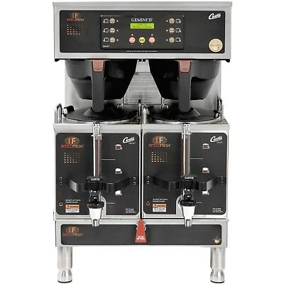 NEW! Curtis G4GEMTIF10B1000 Gemini Stainless Steel Twin Satellite Coffee Brewer