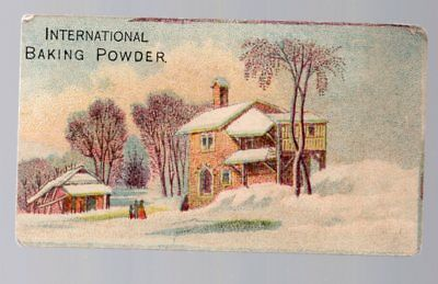 Vintage Victorian Trade Card, International Baking Powder, Queen City Chemical