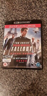 Mission Impossible Fallout 4k Ultra Hd Blu Ray Dvd New Sealed