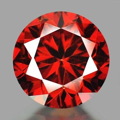 IF - Diamant/Brillant/Synthese  1,50 ct. Dark/Red  6,00 mm  AAA+ Top Stein !