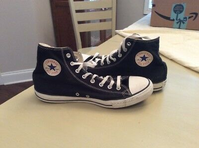 CONVERSE Chuck Taylor All Star Black Canvas High Top Sneakers Mens Size 12 Shoes