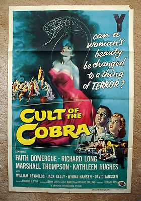 Vintage Original 1955 - CULT of the COBRA Movie Poster art 1sh film noir Sci-Fi