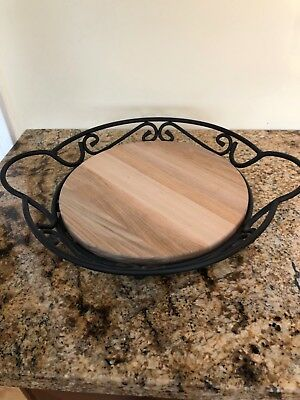 Longaberger Metal Pie Rack and woodcraft insert