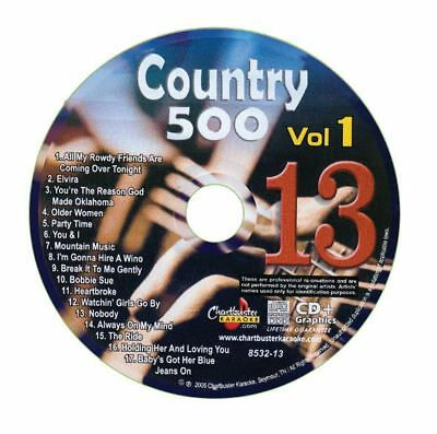 Karaoke Chartbuster Cd+G Country 500 Cb8532 Vol.1 Disc # 13