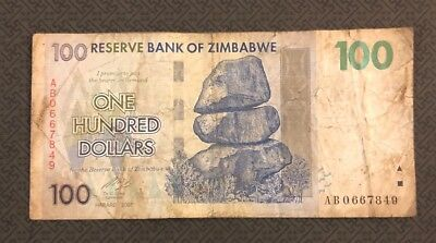 ZIMBABWE 100 Dollars, 2007, P-69, World Currency, Trillion Series