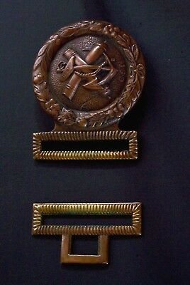 Confederate Navy 2-piece Brass Buckle w/ leather belt-stamped S. Campbell & Co.