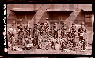 Great 1924 RPPC Negative 138th Field Artillery BAND Camp Knox Fort KY Kentucky