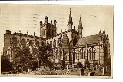CPA-Carte postale- Royaume Uni Chester -Cathedral-1934-S4945