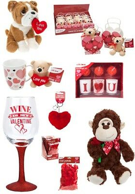 Valentines Day Romantic Gifts Ideas Her & His Love Heart Teddy Red Anniversary