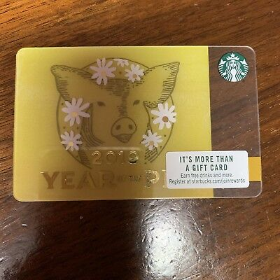 Starbucks Chinese Year of the Pig 2019 Lunar Gift Card, Collectible, Mint