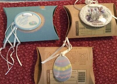 Longaberger Basket Tie On Lot Of 3 EASTER